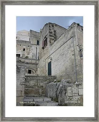 Matera Houses Framed Print by Italian Art