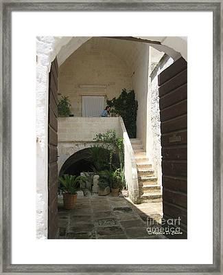 Matera, Italian Courtyard Framed Print by Italian Art