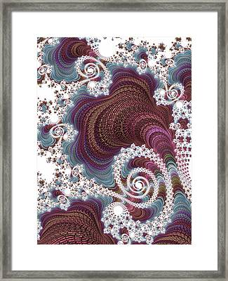 Mathematical Embroidery Framed Print by Susan Maxwell Schmidt