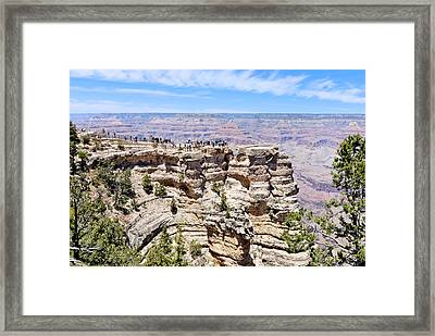 Mather Point At The Grand Canyon Framed Print by Julie Niemela
