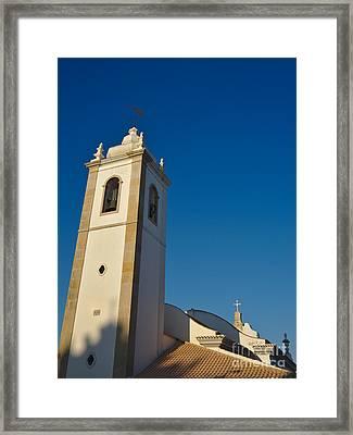 Matriz Church In Albufeira Framed Print by Angelo DeVal