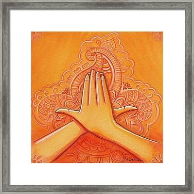 Matsya Mudra Framed Print by Sabina Espinet
