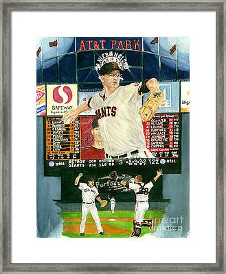 Matt Cain Perfect Night Framed Print by George  Brooks