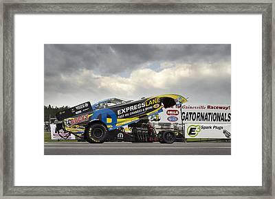 Matt Hagan Top Fuel Framed Print by Peter Chilelli