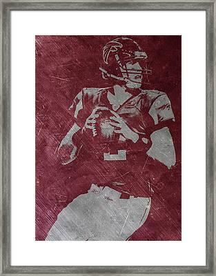 Matt Ryan Atlanta Falcons Framed Print by Joe Hamilton