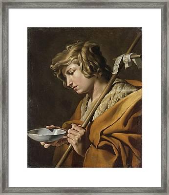 John The Baptist Framed Print by Celestial Images