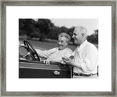 Mature Men At Golf Course, C.1920-30s Framed Print by H. Armstrong Roberts/ClassicStock