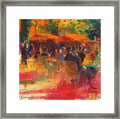 Maturing Sun  Paris Framed Print by Peter Graham