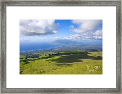Maui Aerial Framed Print by Ron Dahlquist - Printscapes