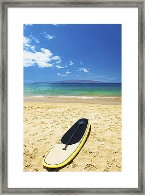 Maui Stund Up Paddle Board Framed Print by Kicka Witte