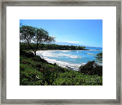 Mauna Kea Beach Framed Print by Bette Phelan