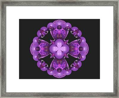 Mauve Circles Framed Print by Nancy Pauling