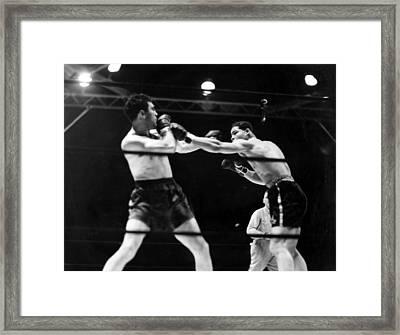 Max Schmeling Fights Joe Louis Framed Print by Everett