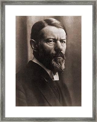 Max Weber 1864-1920, German Political Framed Print by Everett