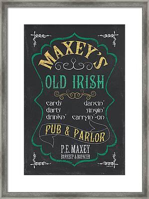 Maxey's Old Irish Pub Framed Print by Debbie DeWitt