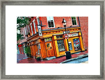 Max's On Broadway Framed Print by Stephen Younts