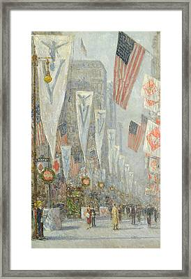 May 1919, 930 Am Framed Print by Childe Hassam