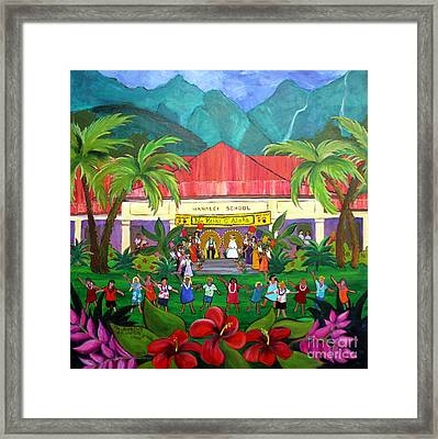 May Day At Hanalei Framed Print by Jerri Grindle