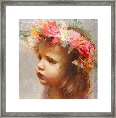 May Flowers Framed Print by Anna Rose Bain
