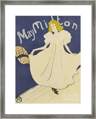 May Milton  Framed Print by Henri de