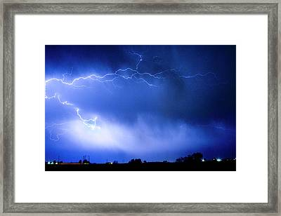 May Showers Two In Color - Lightning Thunderstorm 5-10-2011 Framed Print by James BO  Insogna
