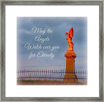 May The Angels Watch Over You Framed Print by Julie Dant
