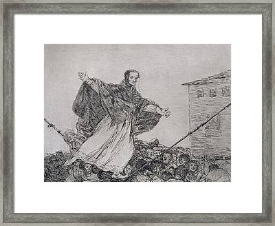 May The Cord Break Framed Print by Goya