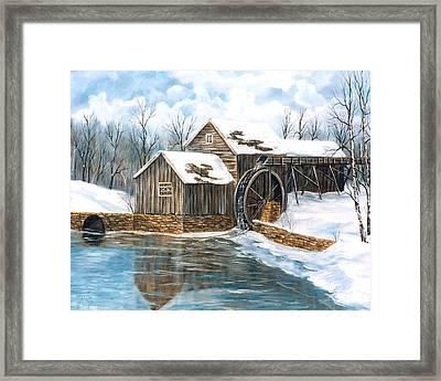 Maybry Mill Framed Print by Marveta Foutch