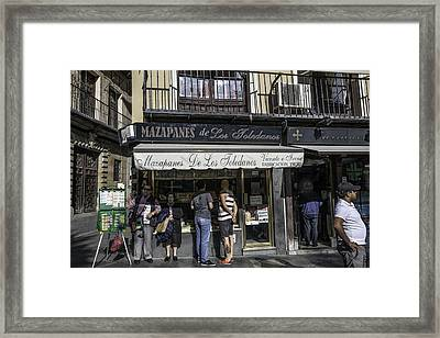 Mazapane People - Seville - Spain Framed Print by Madeline Ellis