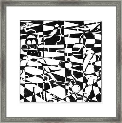 Maze Memoirs Of The Invisible Monkeys Framed Print by Yonatan Frimer Maze Artist