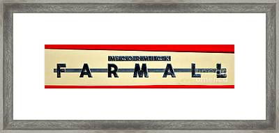 Mc Cormick Farmall Framed Print by Olivier Le Queinec