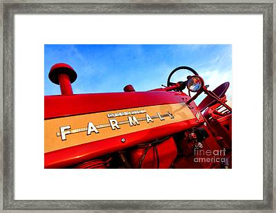 Mccormick Farmall 450 Framed Print by Olivier Le Queinec