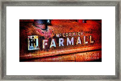 Mccormick Farmall Grunge Framed Print by Olivier Le Queinec