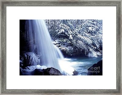 Mccoy Falls In January Framed Print by Thomas R Fletcher