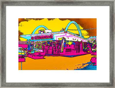 Mcdonalds Arches Framed Print by Joe Myeress