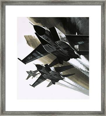 Mcdonnell Douglas F15 Eagle Jet Fighter Framed Print by Wilf Hardy
