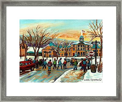 Mcgill Gates Sherbrooke Street Montreal Framed Print by Carole Spandau