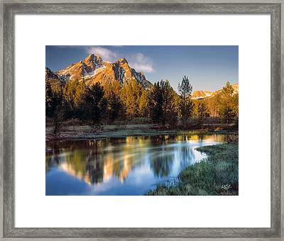 Mcgown Peak Sunrise  Framed Print by Leland D Howard