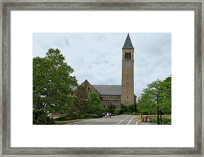 Mcgraw Tower Cornell University Ithaca New York 01 Framed Print by Thomas Woolworth