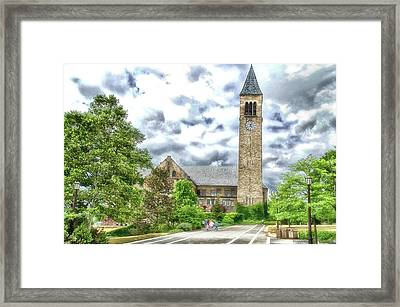 Mcgraw Tower Cornell University Ithaca New York Pa 10 Framed Print by Thomas Woolworth