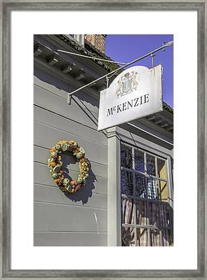 Mckenzie Apothecary Christmas 2014 Framed Print by Teresa Mucha