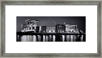 Mclane Stadium Bw Panoramic Framed Print by Stephen Stookey
