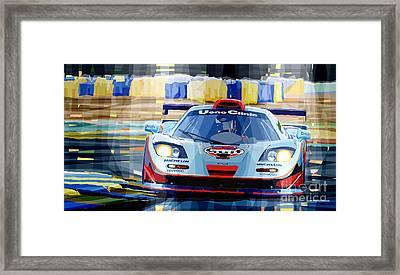 Mclaren Bmw F1 Gtr Gulf Team Davidoff Le Mans 1997 Framed Print by Yuriy  Shevchuk
