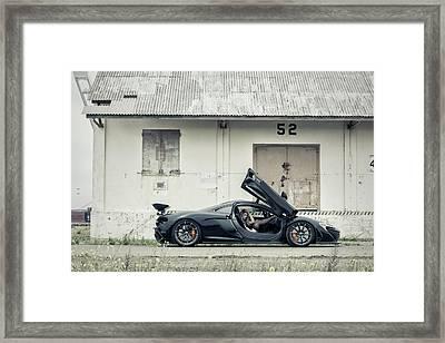 #mclaren #p1 And #kyrstannie Framed Print by ItzKirb Photography