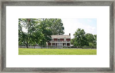 Mclean House Appomattox Court House Virginia Framed Print by Teresa Mucha