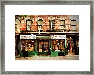 Mcnulty's Tea And Coffee Vintage Framed Print by Jessica Jenney