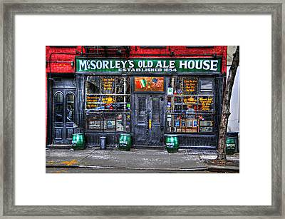 Mcsorley's  In Color Framed Print by Randy Aveille