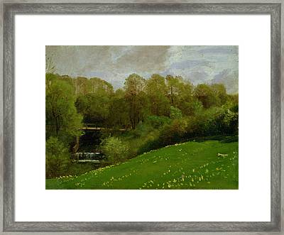Meadow And Woodland Framed Print by Valentin Ruths
