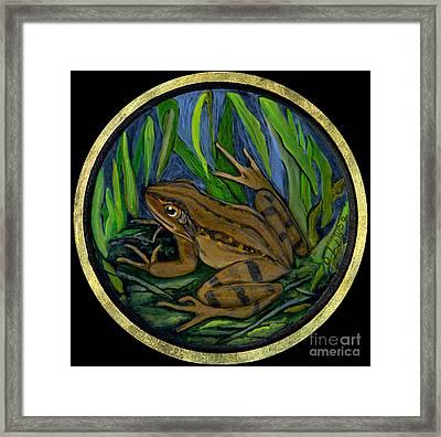 Meadow Frog Framed Print by Anna Folkartanna Maciejewska-Dyba
