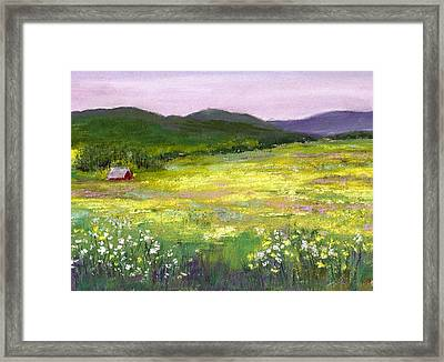 Meadow Of Flowers Framed Print by David Patterson